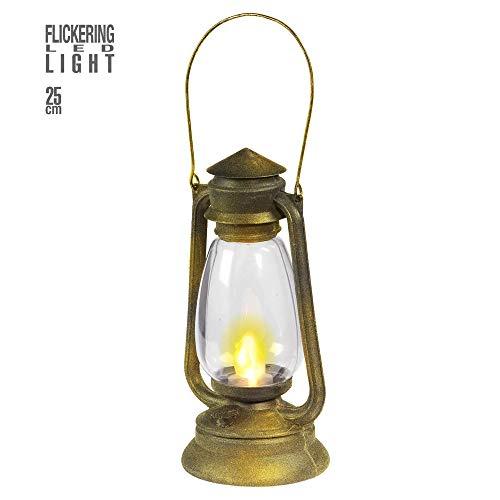 WIDMANN 9530L Laterne mit LED zitternden Licht, Mehrfarbig, Taglia Unica