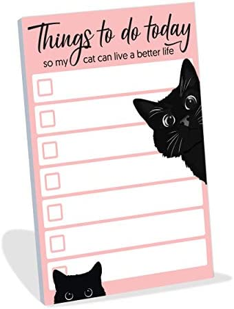 Funny Cat Small to Do List Sticky Notes Things to Do Today So My Cat Can Live a Better Life product image