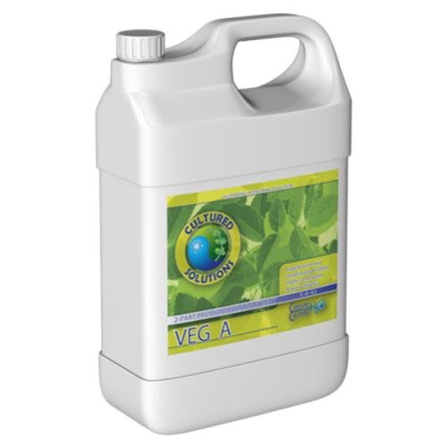 Cultured Solutions CSVEGABQT Veg A & B (Quart of Each) Under Current DWC Nutrients fertilizers, 1, Natural