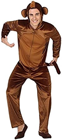 ATOSA disfraz mono hombre adulto marrón M