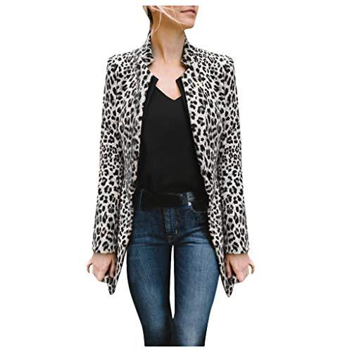 FRAUIT Cardigan Donna Lungo Elegante Leopardo Cappotto Taglie Forti Primavera Cappotti Ragazza Particolari Invernale Giacche Blazer Giacca Lunga Cotone Giubbini Parka Maglione Maglieria Cashmere