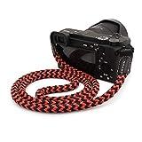 MegaGear Correa de algodón para cámara réflex Digital (75 cm), Color Negro y Rojo