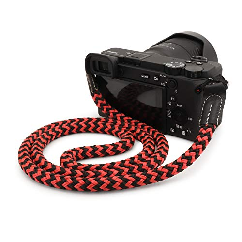 MegaGear SLR, DSLR Camera Cotton Strap Black/Red, Medium - 75cm/29inc (MG)