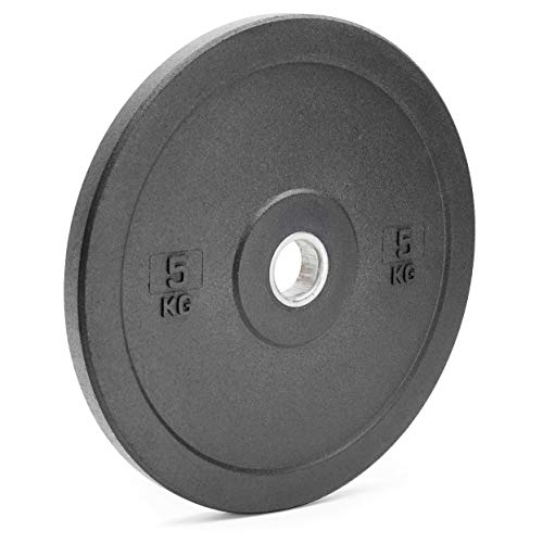 x-trade Bumper Weight Plate Black Olympic Size Rubber Crumb 5kg Gym