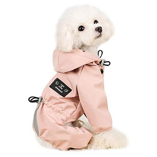 ETOPARS Wasserdichter Hundemantel, Haustier wasserdichte Winterkleidung mit Hut, Warme HaustierJacke, Atmungsaktiver Regenmantel für Haustiere