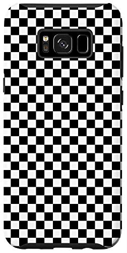 Galaxy S8+ Checkered Black Checkerboard Pattern Phone Case
