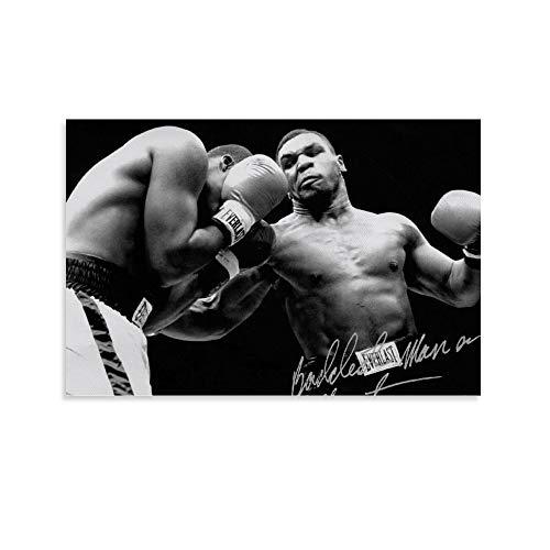 DRAGON VINES Mike Tyson Professional Boxer Atlete Challenge - Lienzo impreso para oficina y hogar, 60 x 90 cm