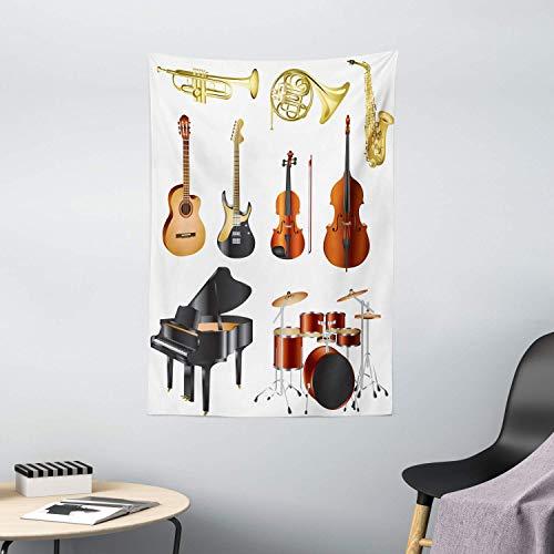 N\A TapizMusical,InstrumentosMusicales,OrquestaSinfónica,ComposicióndeConcierto,Tema,PatróndeColores,TapizparaDormitorio,SaladeEstar,DecoracióndeDormitorio,Multicolor