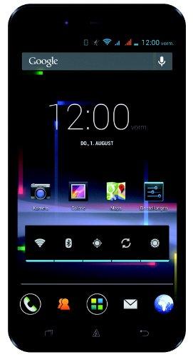 Avus A24 Smartphone (12,7 cm (5 Zoll) qHD Bildschirm, 1,2GHz, Quad-Core, 1GB RAM, 12,6 Megapixel (AF) Kamera, Dual-SIM, Android 4.2) schwarz