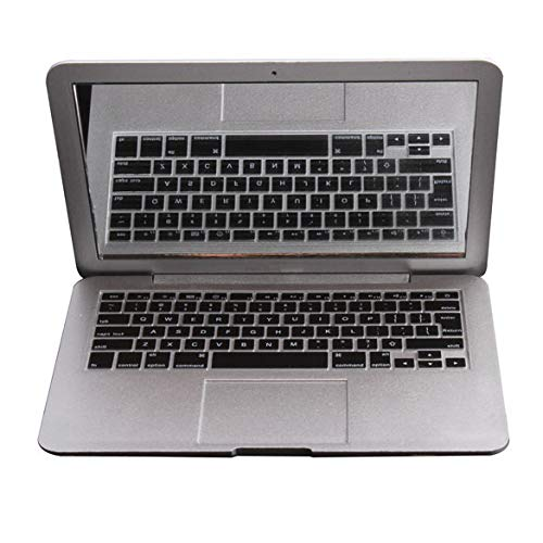CWDOG spiegelboek Air Mini Novel make-up spiegel MacBook Air Shaped Cosmetic Pocket Compact (zilver)