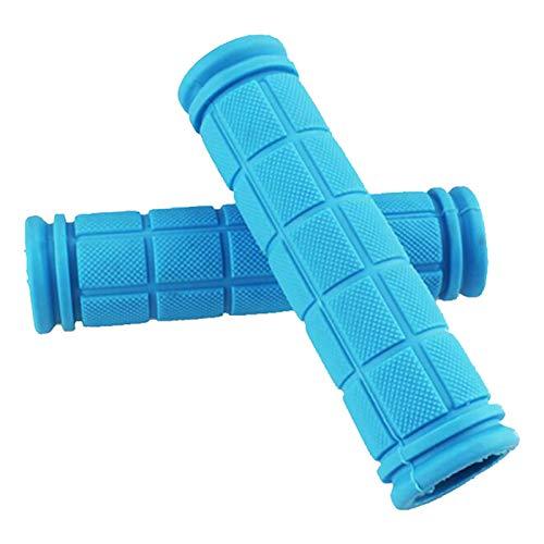 PROGARMENTS 1 Paar Gummi Griffe Lenker, Lenker Griff Handgriffe Fahrradgriffe Rutschfester Weichem Gummi Fahrradgriffe Ergonomisch für Kinderfahrrad(Hellblau)
