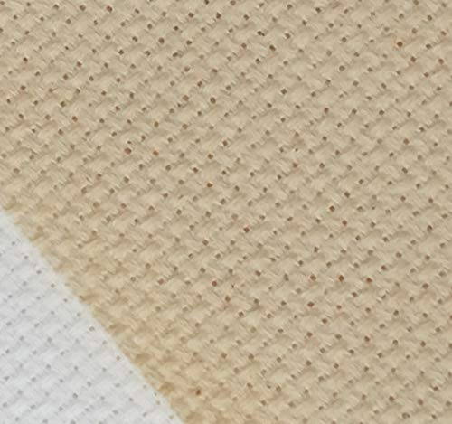 19' x 28' 14CT Counted Cotton Aida Cloth Cross Stitch Fabric (Natural-Light Straw)