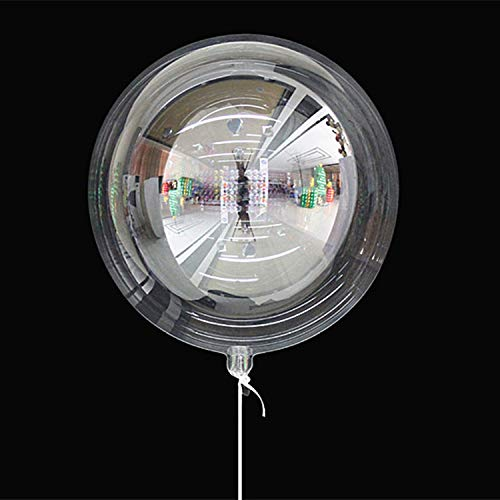 Bobo Balloons 50 Packs,18 inch Transparent Bubble Bobo Balloons for LED Light Up Balloons Helium Style,Gifts Decoration for Christmas,Wedding,Birthday Party(LED String Not Included)