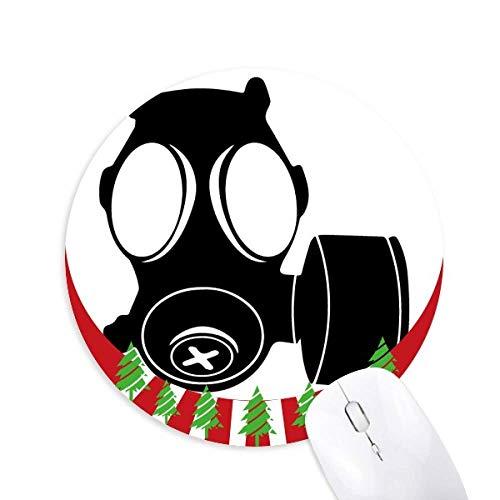 Schmutzbekämpfung Gasmaske Rund Gummi Maus Pad Weihnachtsdekoration