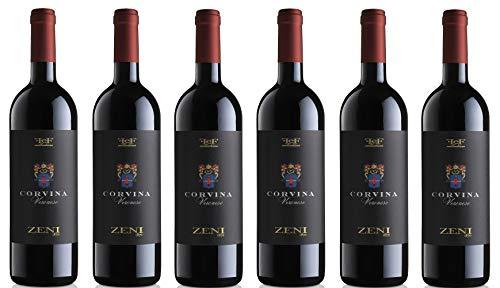6x0,75l - 2018er - Zeni - Corvina Veronese - Veneto I.G.P. - Italien - Rotwein trocken