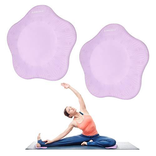 Rodilleras de Yoga E-More Rodillera de yoga, esterilla de yoga – Soporte de rodillas para yoga, ecológicas y ligeras, rodilleras para yoga, rodilleras, manos, muñecas y codos