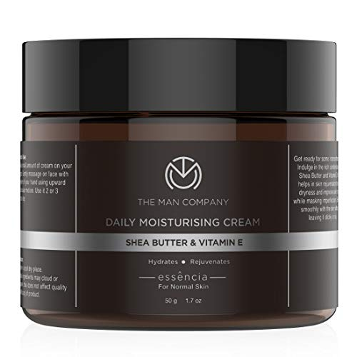 The Man Company Daily Moisturising Cream with Shea Butter and Vitamin E for all Skin types (50gm)