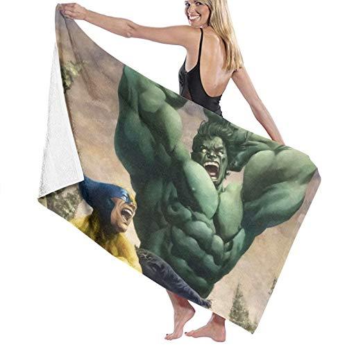 Green-Hulk Toalla de playa de gran tamaño, toalla grande de microfibra de secado rápido libre de arena, toallas de playa para viajes al aire libre, piscina, deporte, hotel, gimnasio y spa