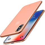 iPhone X Hülle, TOZO PP[0.35mm] Slim Extra Dünn Hard Hardcase [Halb Transparent] Schutzhülle für...