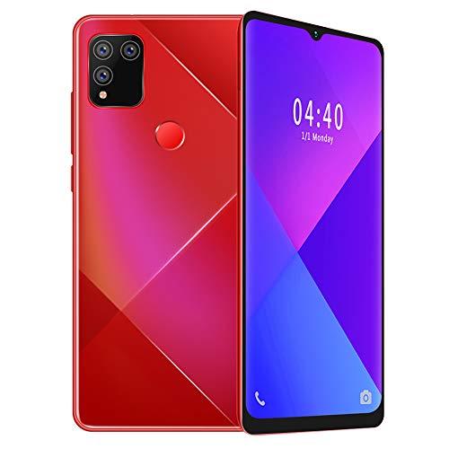 Smartphones desbloqueados, pantalla de caída de 6,7', lector de huellas dactilares, identificación facial, teléfono inteligente, Android 9 Quad Core 4GB + 64GB, batería de 2800mAh(I)