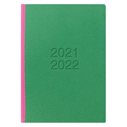 Letts of London - Agenda accademica 21,22 con visualizzazione settimanale, formato A5, colore: Verde