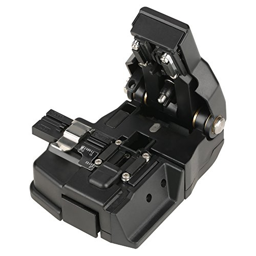 YWBL-WH Optical Fiber Cleaver, HS-30 Optical Optic Cable Connector Tools Cutter, Black 48,000 Fiber Cleaves, High Precision Fiber Cleavers