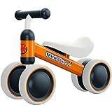 YGJT Bicicleta sin Pedales 1 Año Juguetes Bebes - Triciclos Bebes- Correpasillos Bebes 1 Año Regalo para 1 Año (Naranja)