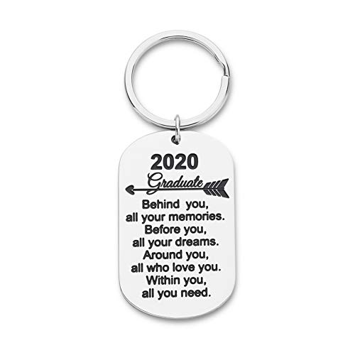 Graduation Gifts for Him Her 2020 Keychain Graduation Masters Nurses Students from College Medical High School Inspirational Gifts for Women Men Girls Daughter Son Graduates from Dad Mom