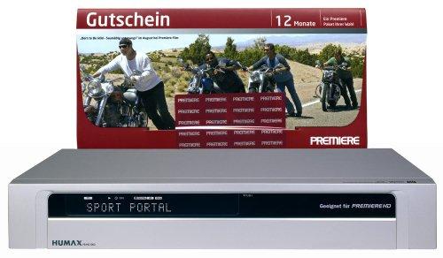 Humax PR HD 1000 Digitaler Satelliten-Receiver (HDMI-Ausgang, 2 CI-Anschluß) Silber, inkl. Premiere Gutschein 12 Monate 1 Paket