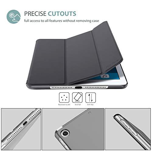ProCase iPad Air Ultra Dünn Smart Hülle, Leichte Stand Schutzhülle Shell mit Translucent Frosted Rückhülle für Apple iPad Air (A1474 A1475 A1476) -Grau