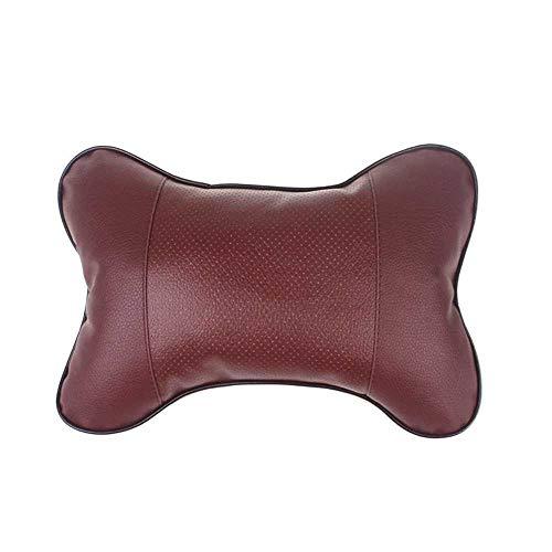 MIOAHD Almohadas para el Cuello del Coche Reposacabezas del Coche Reposacabezas de Cuero de PVC Protector del reposacabezas del reposacabezas Universal Cojín del Respaldo del reposacabezas