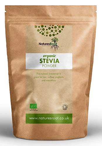 Natures Root Premium Poudre de feuille verte de Stevia 250 g – Dolcifiant substitut du sucre | sain et naturel | zéro chaleur