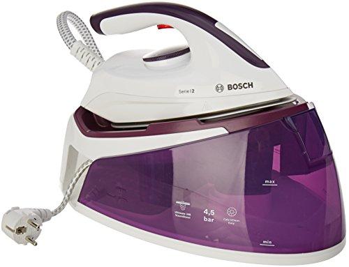 Bosch TDS2170 Serie 2 Centro de planchado, 2.400 W, 4.5 bares de presión, color blanco y violeta oscuro