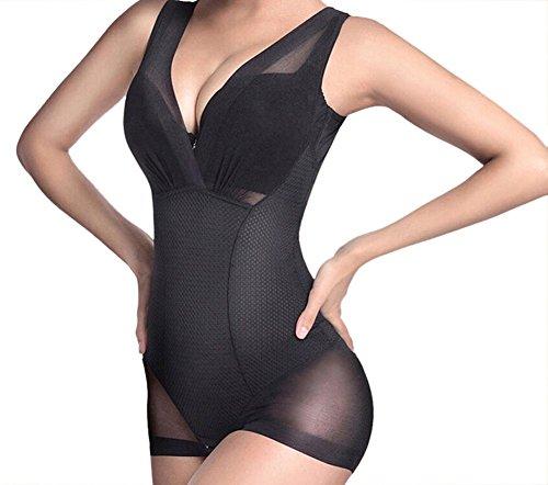 Butterme mujeres verano transpirable body super slim sin costuras shaper s¨®lido control...