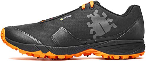 powerful Icebug Pytho4BU Gold Traction Men's Trainer Black / Dark Orange 11.5