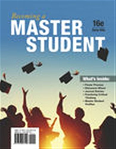 Compare Textbook Prices for Becoming a Master Student 16 Edition ISBN 9781337097109 by Ellis, Dave