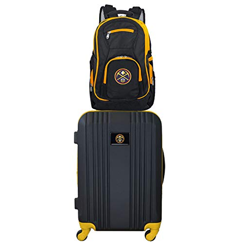 Great Price! NBA Denver Nuggets 2-Piece Luggage Set2-Piece Luggage Set, Black, 21
