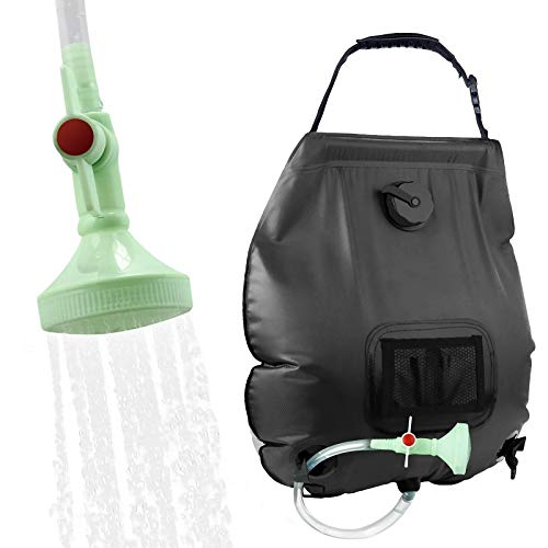 KIPIDA Solar Shower Bag,5 gallons/20L Solar Heating Camping Shower Bag with Removable...