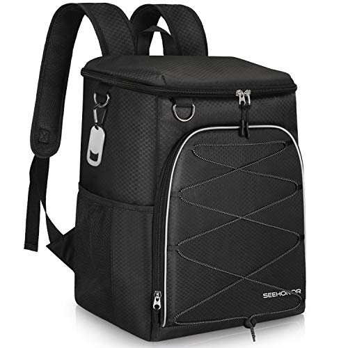 SEEHONOR Insulated Cooler Backpack 45 Cans Leakproof Soft...