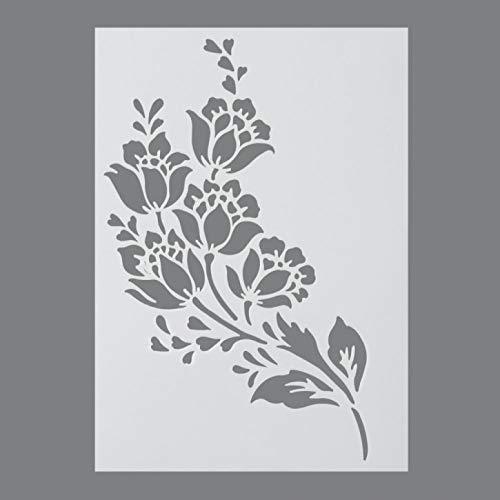 efco, Stencil a Forma di Fiori, 1 Design, in plastica, Trasparente, Formato A4