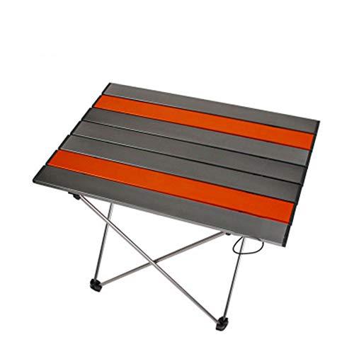 XDHN Vak campingtafel, beweegbare tafel, lichtklaptafel met tafelblad van aluminium en draagtas, gemakkelijk te dragen, ideaal voor outdoor, picknick, koken, strand, wandelen, vissen
