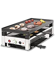 Solis 5 in 1 Table Grill 791 Elektrische Grill - Multifunctioneel Grill Apparaat - Racletten, Grillen, Wokken en pizza's en crêpes bakken - Anti-aanbaklaag - Gourmetstel 8 Personen