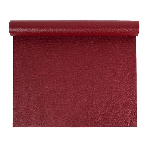Yoga Studio Öko-Tex-Yogamatte, 4,5 mm, breit (Berry Red)