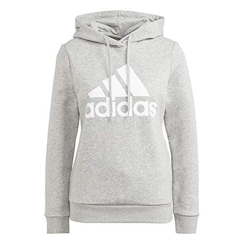 adidas Damen W Bl Fl Hd Kapuzenpullover, Medium Grey Heather/White, M EU
