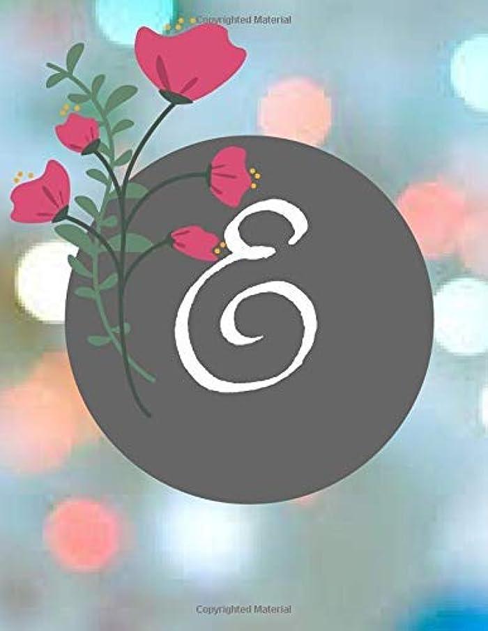 タワー配列カウントE: Floral cover Letter Initial E Compositional journal for AllNotebook to write 8.5x11 [並行輸入品]