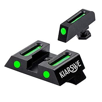KIARSWE Fiber-Optic Night Sights Photoluminescent Night Sights Handgun Sights for Pistolsber-Optic Night Sights Photoluminescent Night Sights Shield Night Sights for Glock 19/17/26 etc