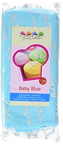 FunCakes Pâte à Sucre Bleue Bébé 1 kg
