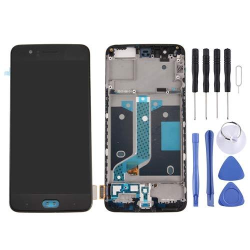 ELECTRONICS MobilePhone REPLACEMENT PART SMART for OnePlus 5 LCD-scherm en Digitizer Volledige Vergadering met Frame (zwart) (Color : Black)