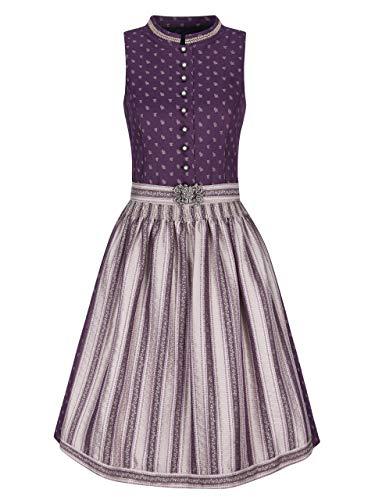 Almbock Dirndl Trachtenkleid - Dirndl Midi für Damen in der Farbe lila Made in Germany - Trachtenkleid Midi für Verschiedene Anlässe Größe 34