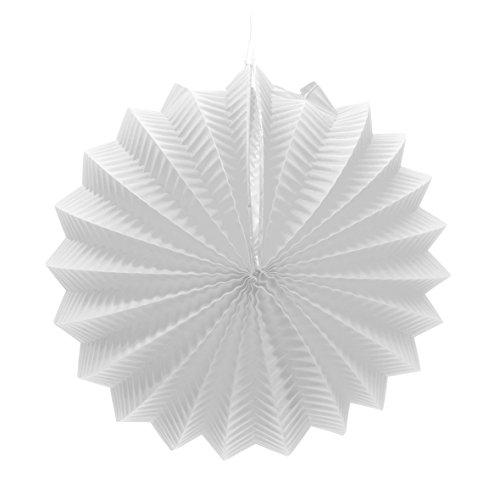 EuroFiestas Farolillo de Papel para decoración de Feria con Gancho Color Blanco